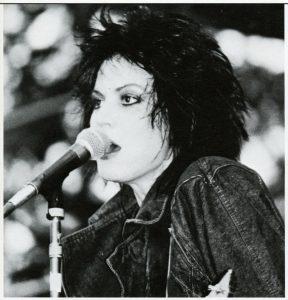 Joan Jett performing on April 11, 1987