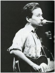 Gordon Gano of the Violent Femmes performing on April 20. 1991
