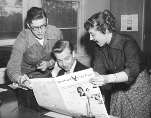 The 1952 editorial staff of The Eagle