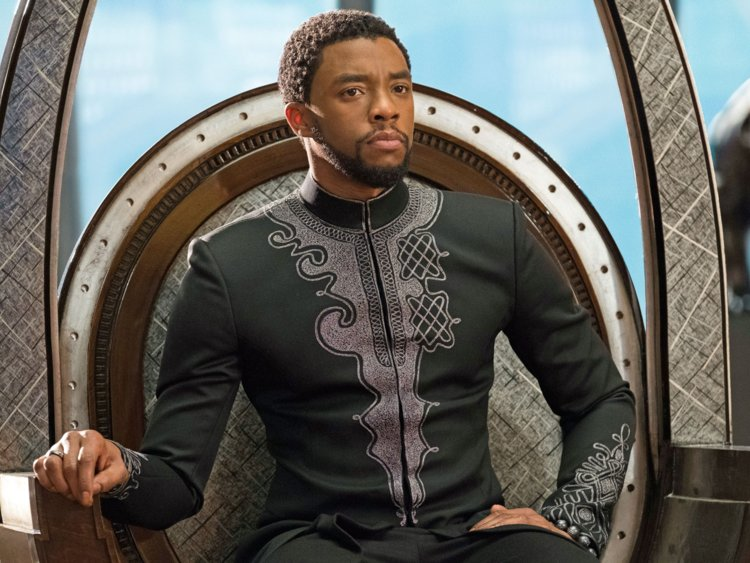 T'Challa on his throne.