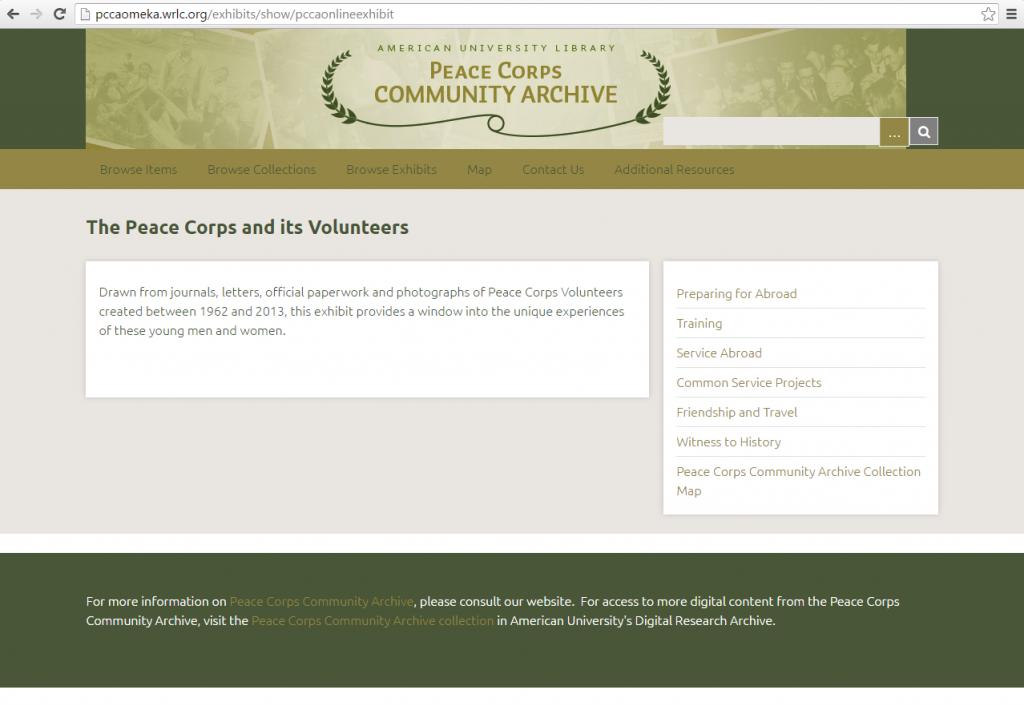 PCCA Exhibit Screenshot